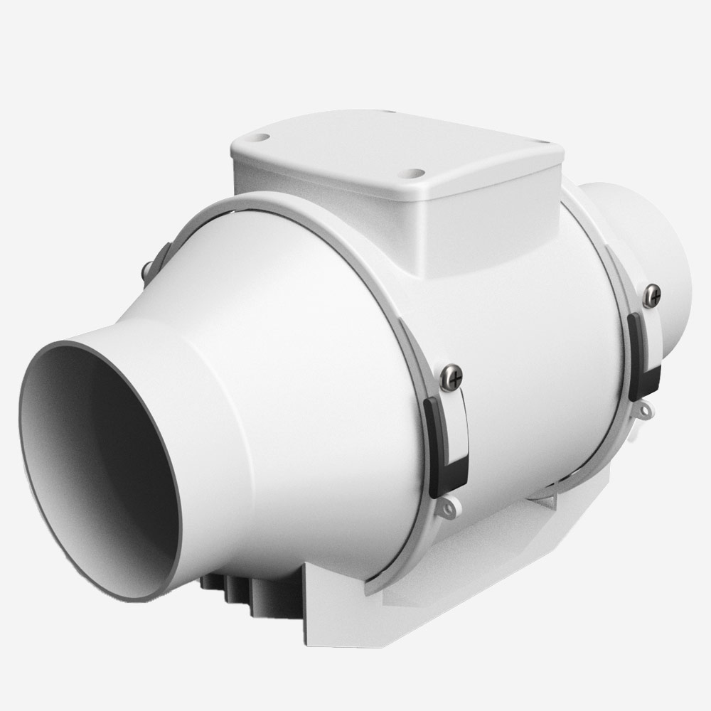inline extraction induction fans